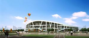 定边县体育场(建筑面积105575平方米)