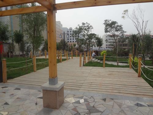 榆阳中路南门小游园工程